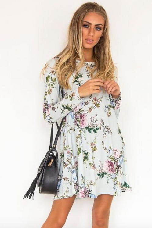 Mint Floral Swing Dress