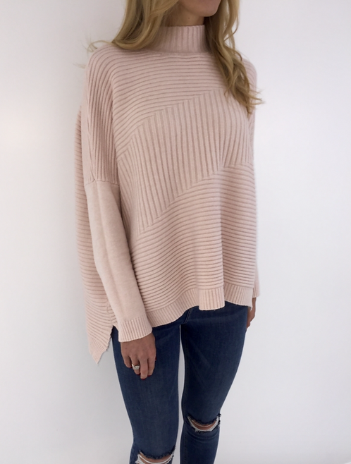 Pink Ribbed Jumper