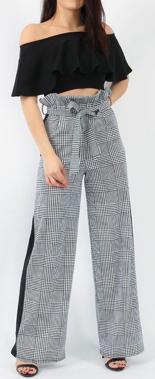 Check Paper Bag Trouser