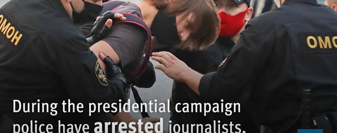 Belarus: Police arrests journalists, bloggers, and political activists just ahead of the presidential elections