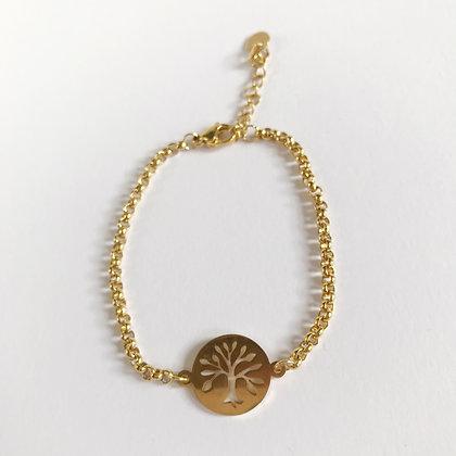 Levensboom armband goud