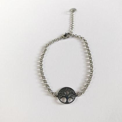 Levensboom armband zilver