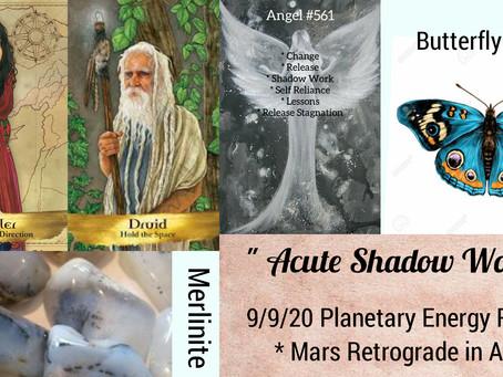 9/4/20  Mars Retrograde in Aries...Planetary Energy Reading - Acute Shadow Work