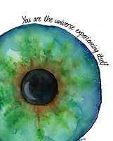 Universe Art Print Watercolor Eye Wall A