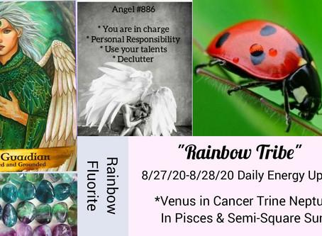 8/27/20-8/28/20  Daily Energy Reading-Rainbow Tribe