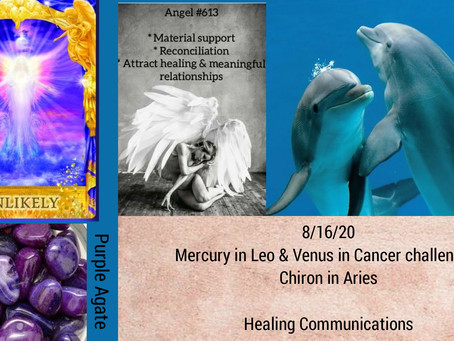 8/16/20  Daily Energy Reading-Healing Communications
