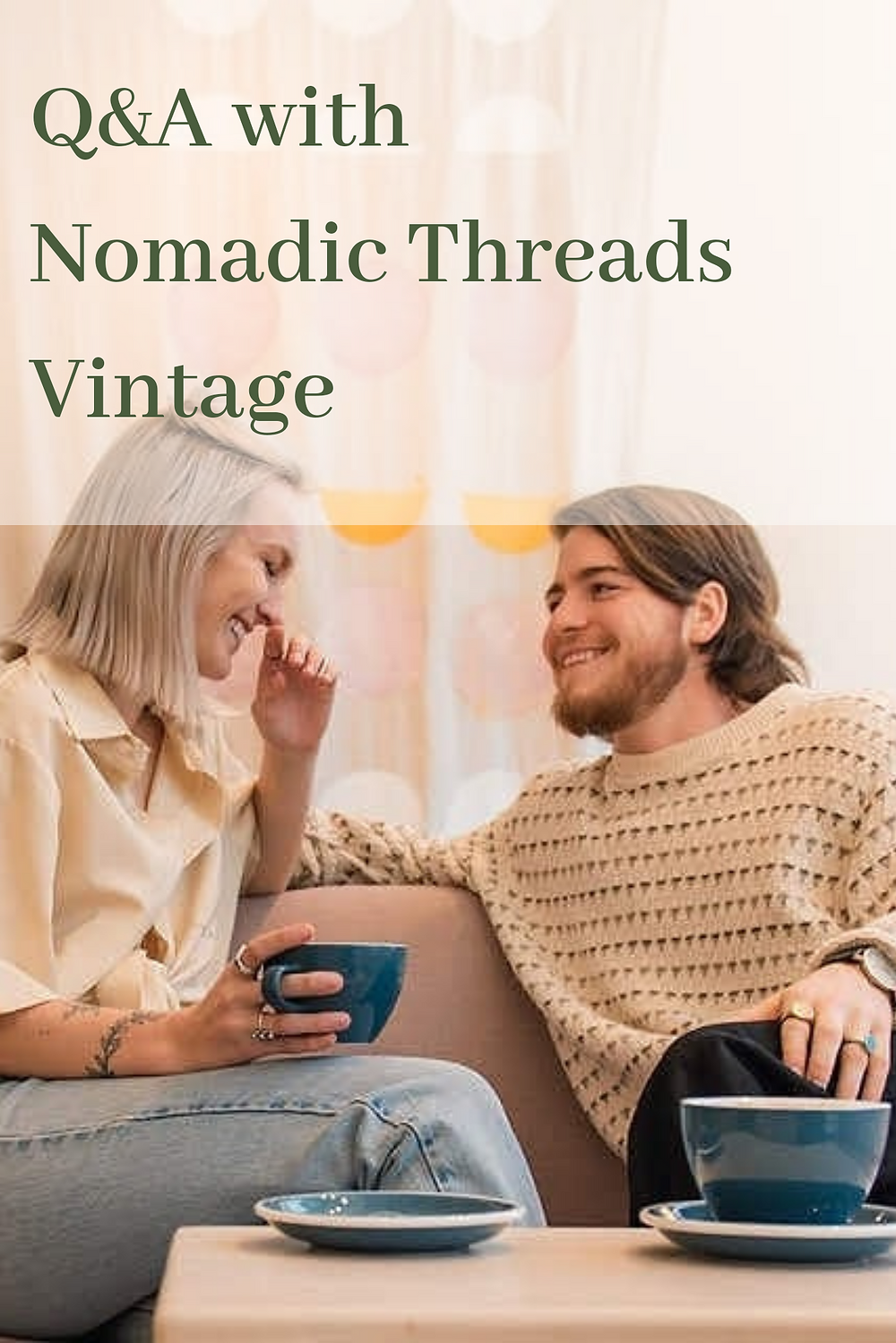Nomadic Threads Vintage Q&A Pin