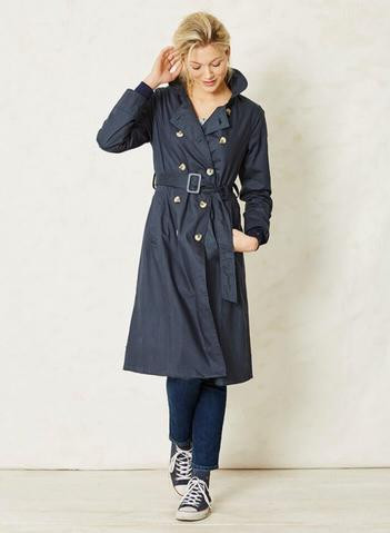 sustainable 60s fashion trench coat