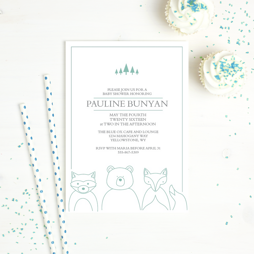 baby shower invitation basic invite