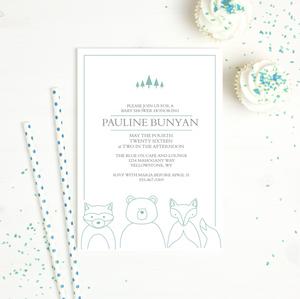 baby shower invitation basic invite