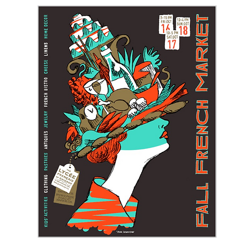 2009 French Mademoiselle Market Poster by Yann Legendre