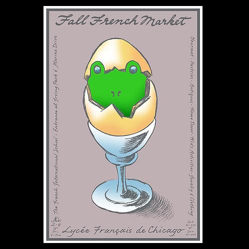 2012 Froggy Egg Poster by Yann Legendre