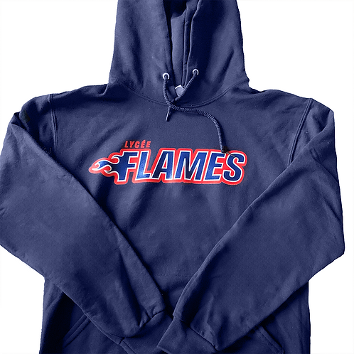 Flames Sweatshirt - Navy Blue