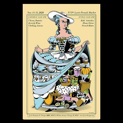 2020 Marie-Antoinette Market Poster by Yann Legendre