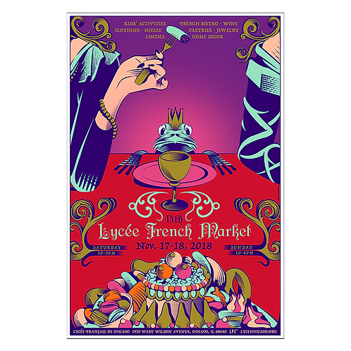 2018 The Frog King Poster by Yann Legendre