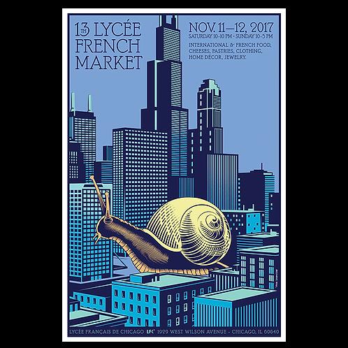 2017 Snailzilla Market Poster by Yann Legendre