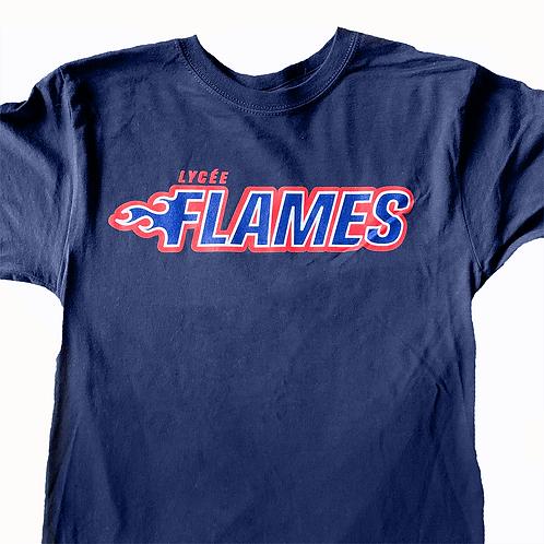 Flames T-shirt - Navy Blue
