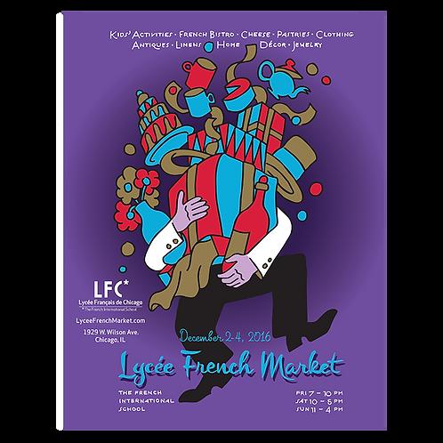 2016 French Butler Market Poster by Yann Legendre
