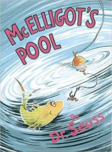 Dr. Seuss McElligots Pool the book found in Asha's bookbag