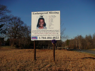 Billboard at site of her disappearance