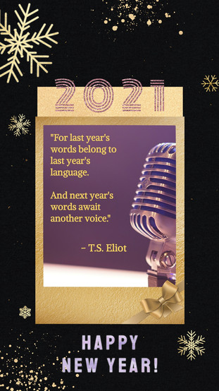 New Year's 2020 TS Eliot Quote