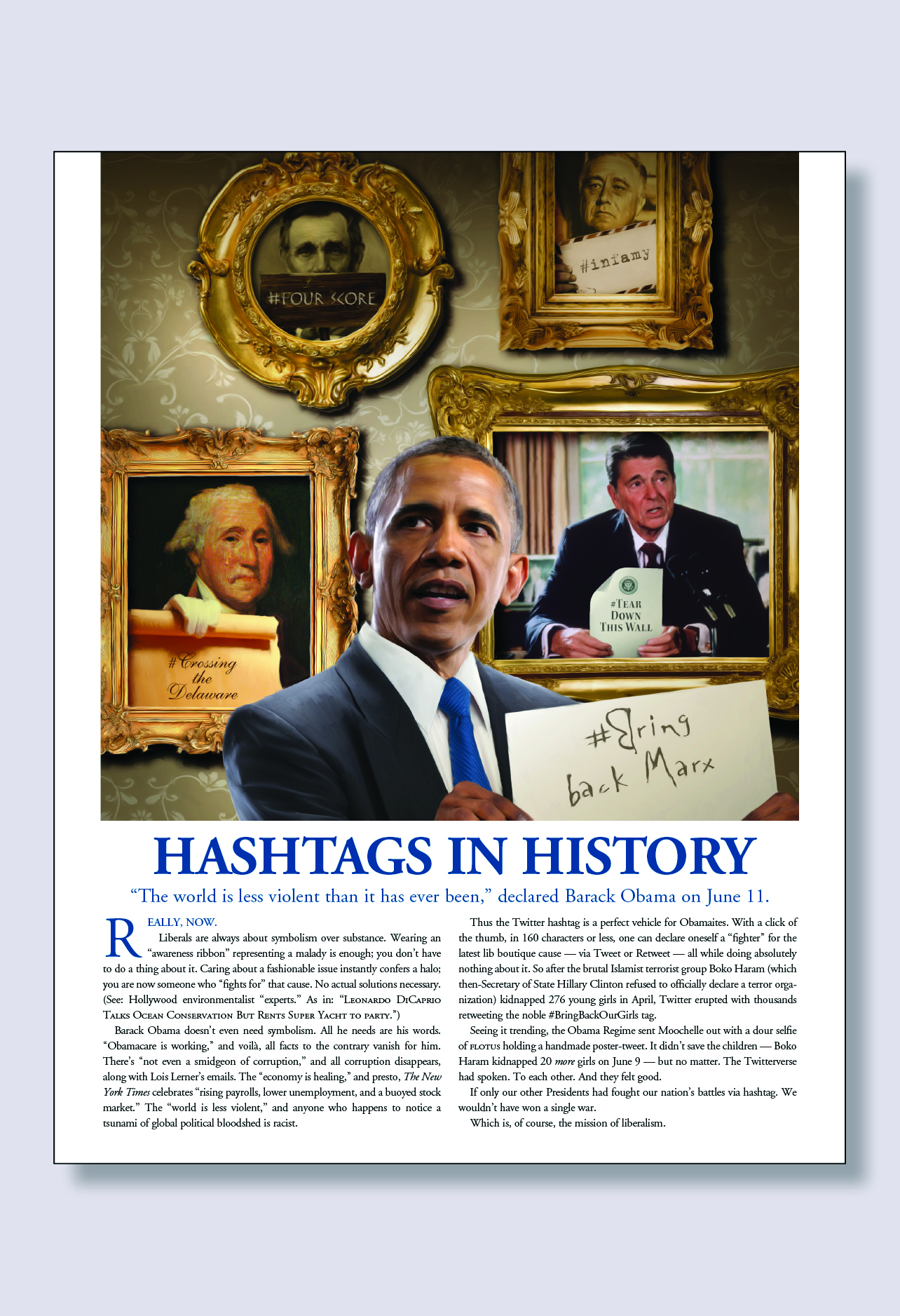 Hashtags in History