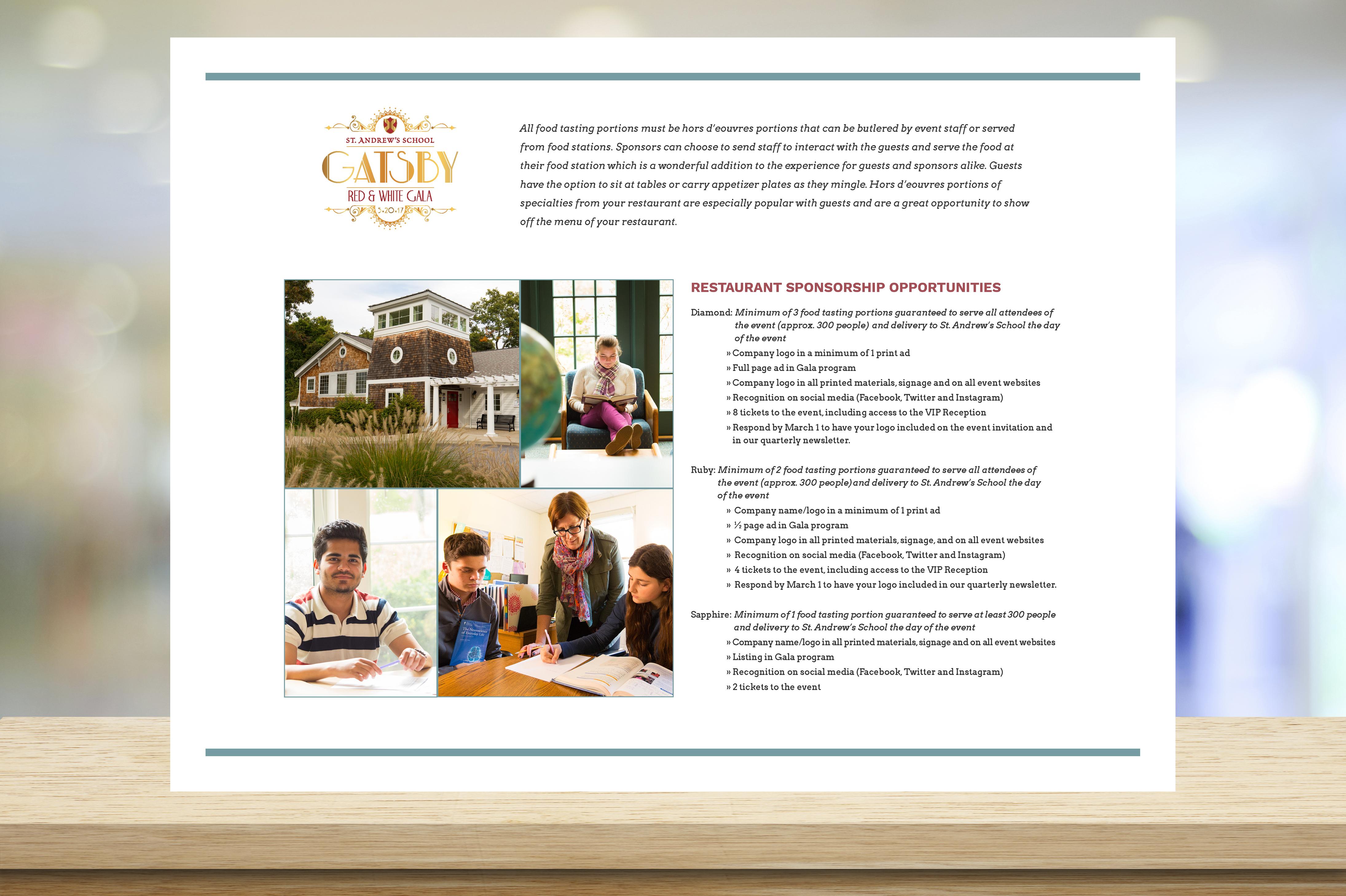 St. Andrew's Sponsorship Brochure