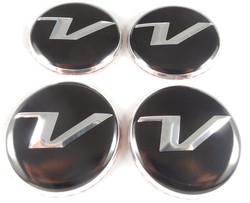 V Logo Wheel Cap Emblems