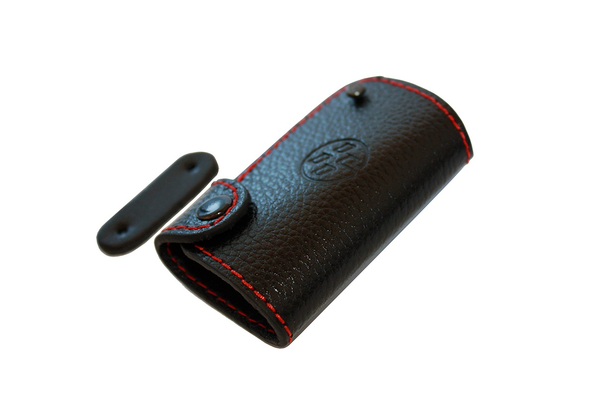 86 Logo Leather Key Case
