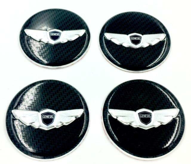 Genesis Wing Wheel Cap Emblems