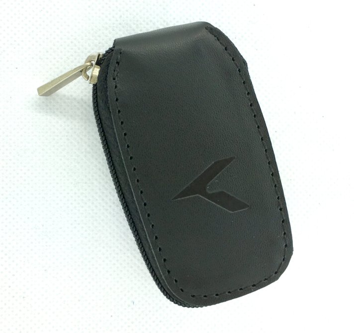 K logo Leather Key Case