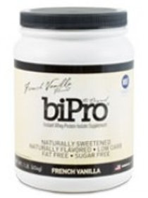 BiPro, Whey Protein Isolate 1lb Jar - French Vanil