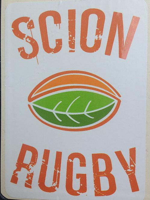 Scion Rugby Sticker
