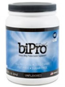 BiPro, Whey Protein Isolate 1lb Jar - Unflavored