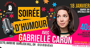 Gabrielle Caron Event Banner - Made with