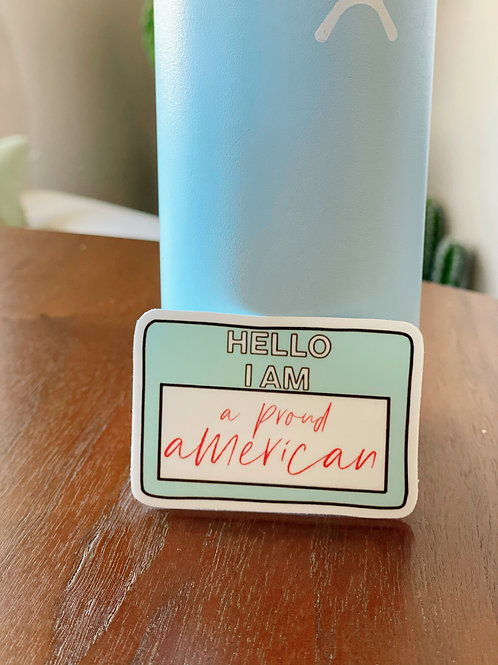 """Hello I am"" Sticker"