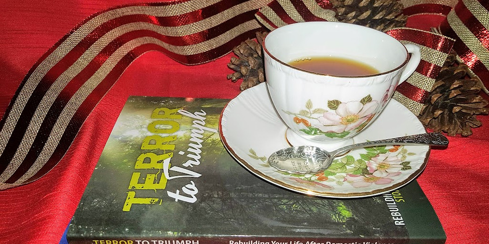 Christmas in July high-tea Terror to Triumph audio-book launch