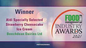 Aldi Specially Selected Strawberry Cheesecake Ice Cream Wins Prestigious Award