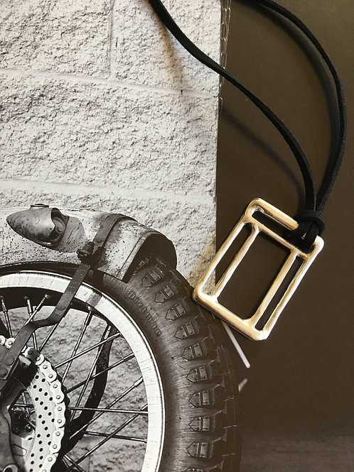 Labyrinth Men Rectangle Gold Plated