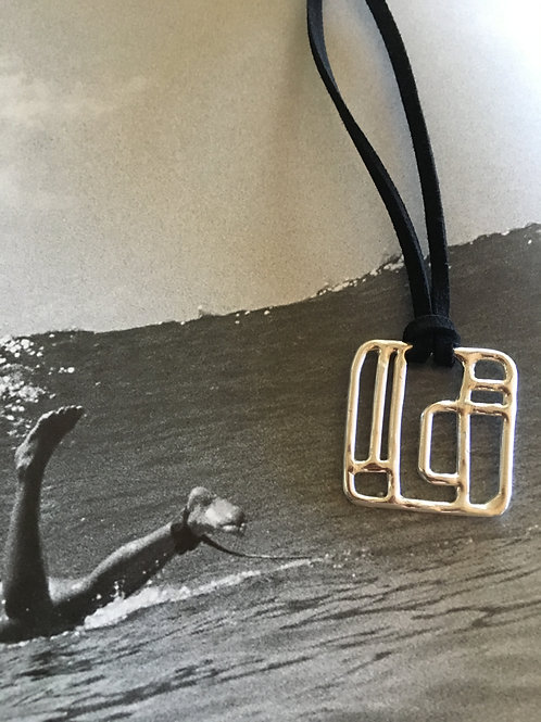 Labyrinth Men Square Sterling Silver