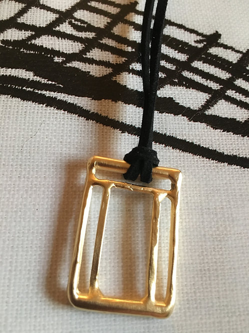 Labyrinth Rectangle Gold Plated