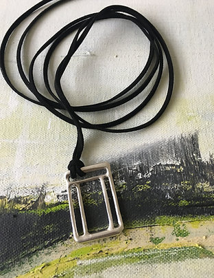 Labyrinth Rectangle Sterling Silver