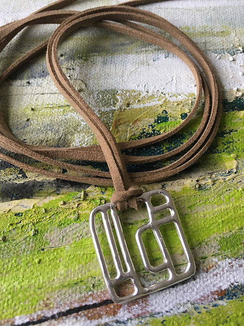 Labyrinth Square Sterling Silver