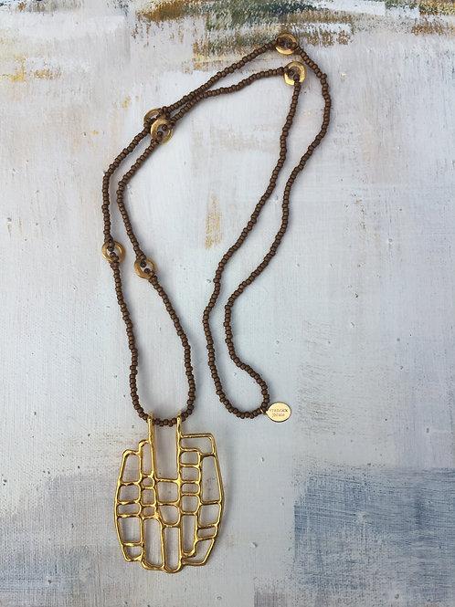 La Bohemienne Rectangle Gold Plated