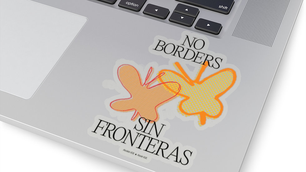 NO BORDERS Sticker (@laurrojas)