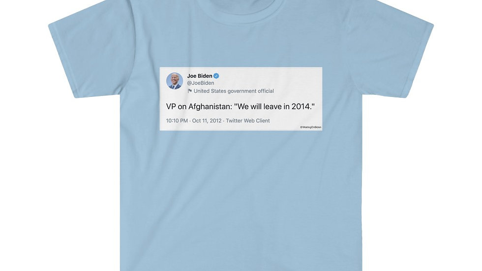 Joe Biden Afghanistan War Tweet Shirt