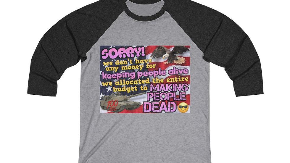 MAKING PEOPLE DEAD Raglan Shirt (@sapphics4satan)