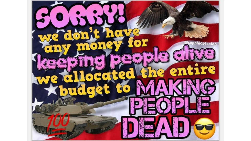 MAKING PEOPLE DEAD Sticker (@sapphics4satan)