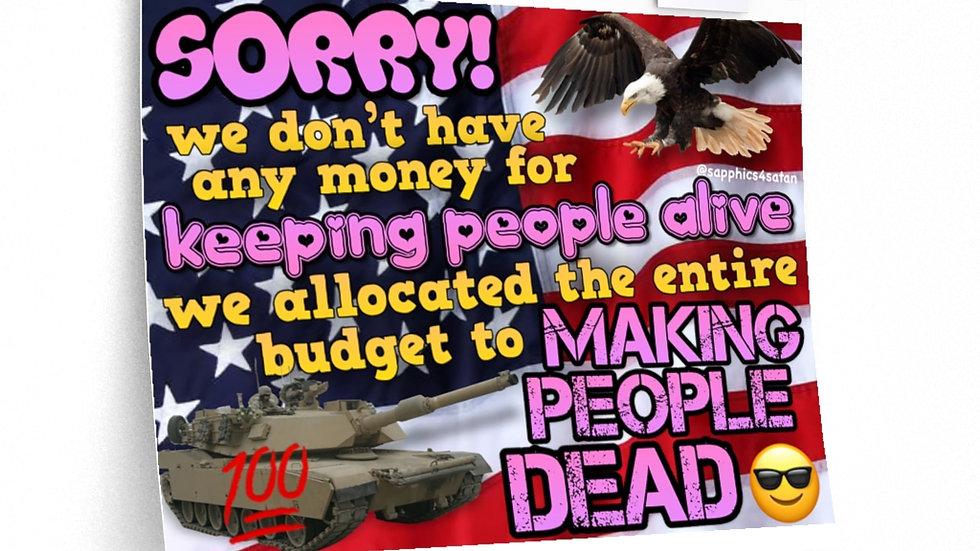 MAKING PEOPLE DEAD Poster (@sapphics4satan)
