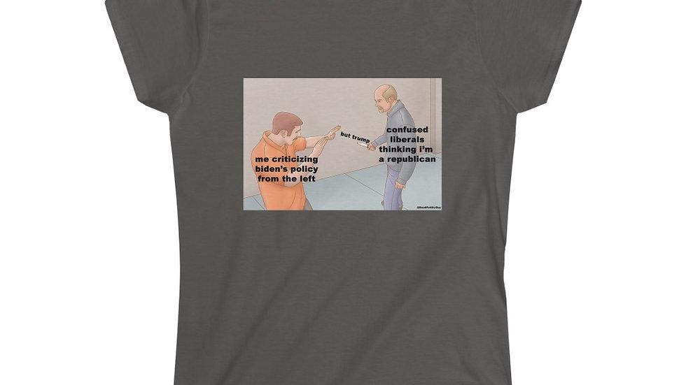 but trump Feminine Shirt (@GoodPoliticGuy)